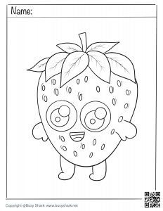 Free printable coloring page for strawberry