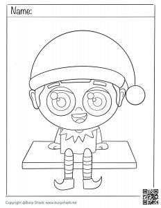 an elf on the shelf coloring page