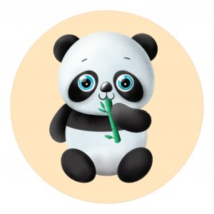 how to draw a panda eating bamboo image