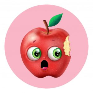 an apple with a bite thumbnail