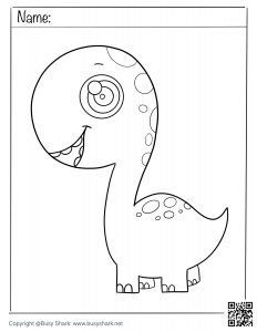 download free coloring page for a cute dinosaur