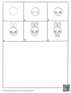 download free drawing page for a bunny