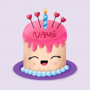 Step by step drawing tutorial . How to draw a cute Birthday cake with name