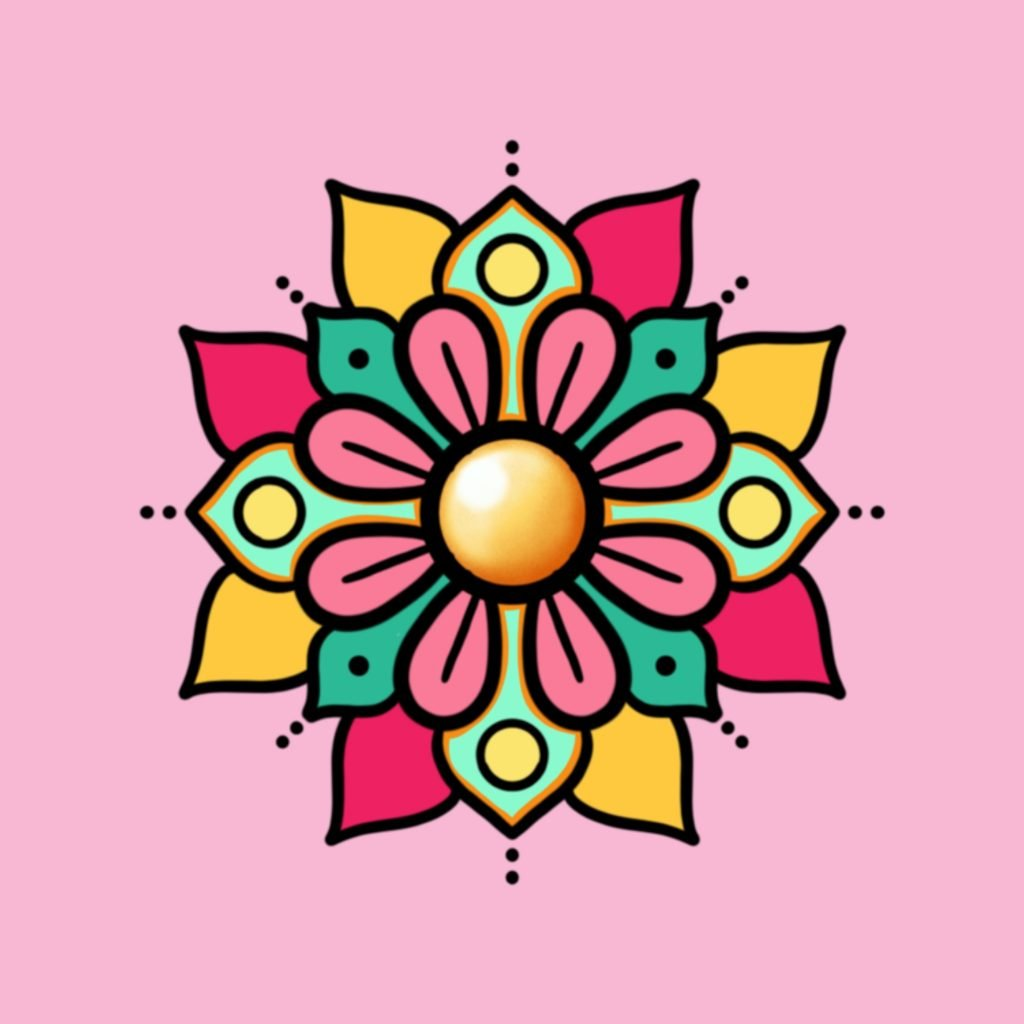 How to draw a simple mandala drawing tutorial