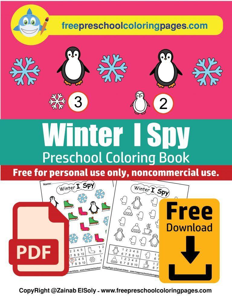winter i spy free preschool coloring book free printable christmas game activity pdf download-01