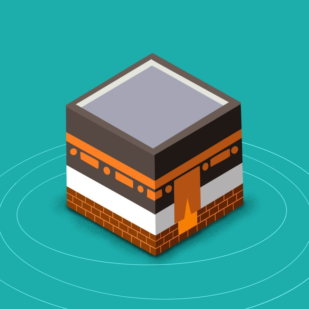 How to draw a 3D Kaaba drawing tutorial