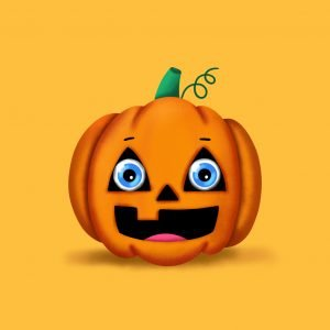 Step by step drawing tutorial . How to draw a cute Pumpkin